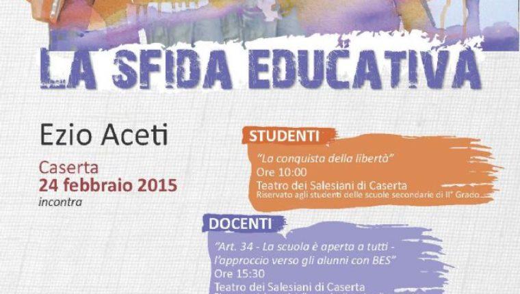 """""""La Sfida educativa"""": al Teatro dei Salesiani l'incontro con Ezio Aceti"""