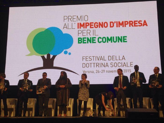 """""""Impegno d'impresa per il bene comune"""": il Festival della Dottrina Sociale premia Antonio Diana"""