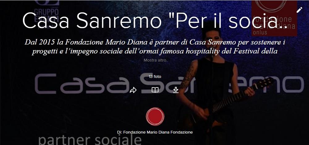 """Con Casa Sanremo """"Per il sociale"""""""