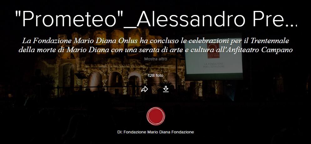 """""""Prometeo""""_Alessandro Preziosi all'Anfiteatro Campano"""