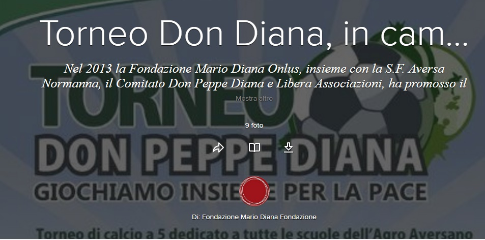 Torneo Don Diana, in campo per la legalità