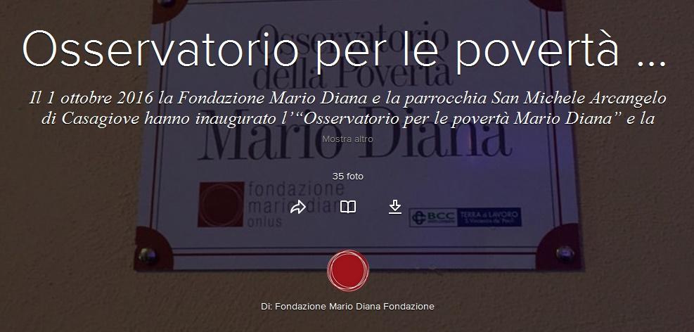 """""""Osservatorio per le povertà Mario Diana"""""""