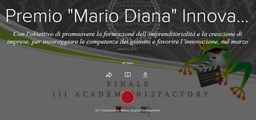 "Premio ""Mario Diana"" Innovation Award 2017"