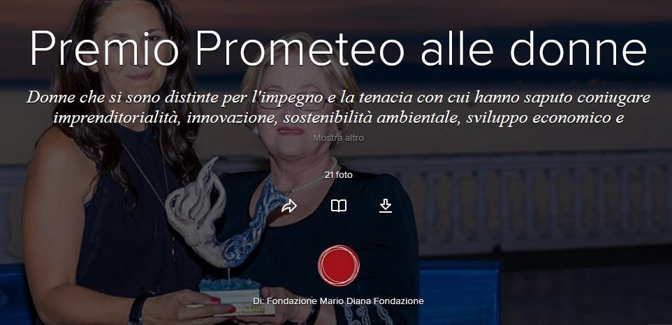 """""""PROMETEO"""", un Premio al Talento delle Donne"""