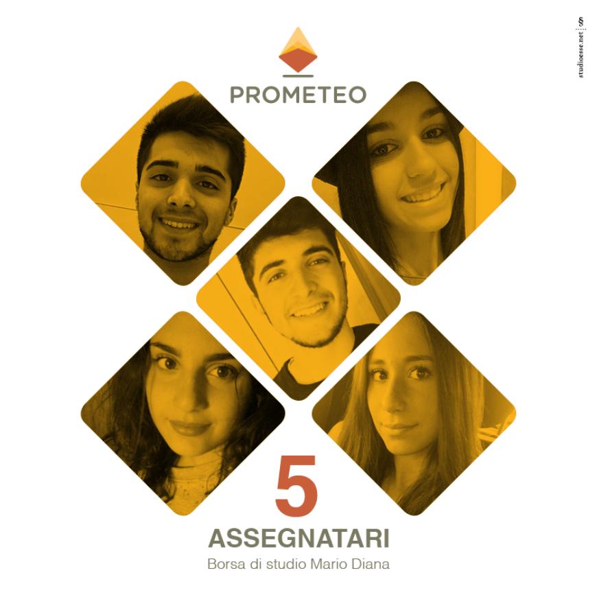 """PROMETEO Italia, ecco i 5 studenti assegnatari della Borsa di studio """"Mario Diana"""""""