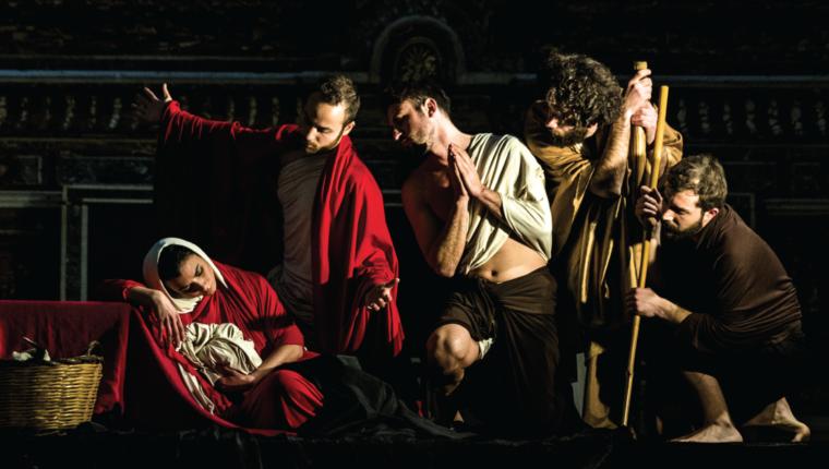 """""""La Conversione di un Cavallo"""", ad Aversa i tableaux vivants di Caravaggio"""