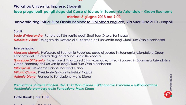 """Think Big, Make Green"", convegno sulla Green Economy al Suor Orsola Benincasa"