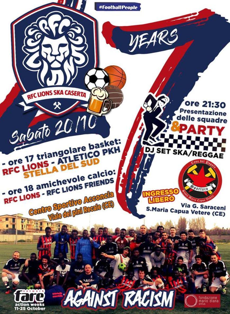 RFC Lions Caserta, 7 anni tra sport e integrazione