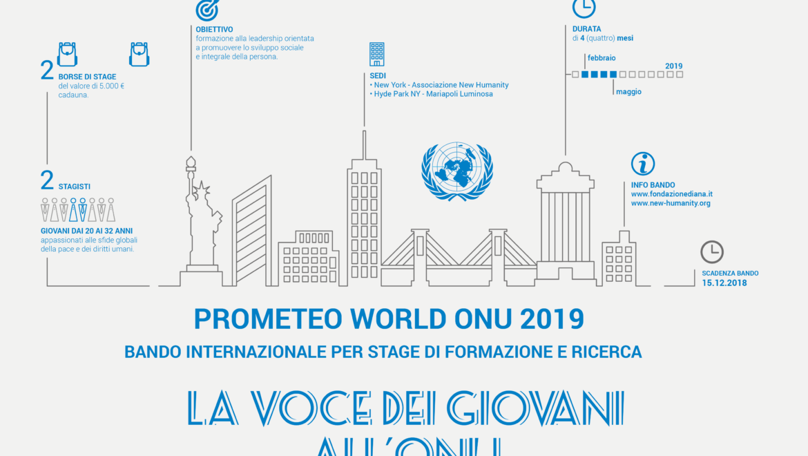 Bando internazionale Prometeo World ONU 2019