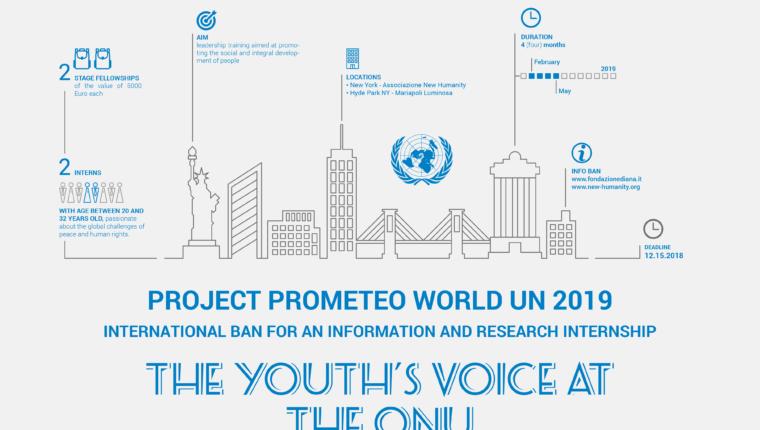 Grazia Perreca e Catarina Bezerra selezionate per il progetto Prometeo World ONU 2019