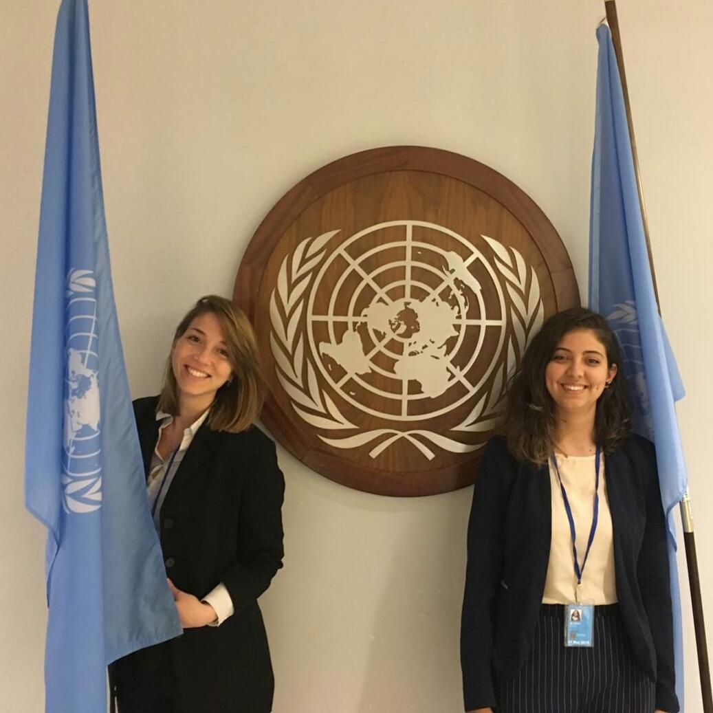 L'emozione di Catarina e Grazia nel loro primo giorno di stage all'ONU di New York